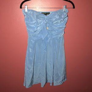 Elizabeth & James Blue Strapless Dress